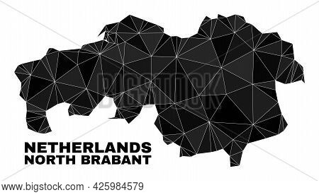 Low-poly North Brabant Province Map. Polygonal North Brabant Province Map Vector Filled Of Random Tr