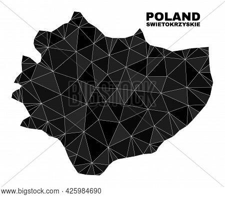 Lowpoly Swietokrzyskie Voivodeship Map. Polygonal Swietokrzyskie Voivodeship Map Vector Filled From