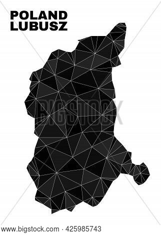 Low-poly Lubusz Voivodeship Map. Polygonal Lubusz Voivodeship Map Vector Combined Of Scattered Trian