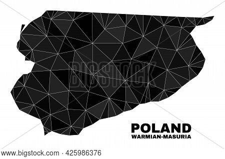 Lowpoly Warmian-masurian Voivodeship Map. Polygonal Warmian-masurian Voivodeship Map Vector Is Desig
