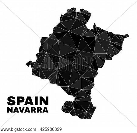 Lowpoly Navarra Province Map. Polygonal Navarra Province Map Vector Is Constructed Of Random Triangl