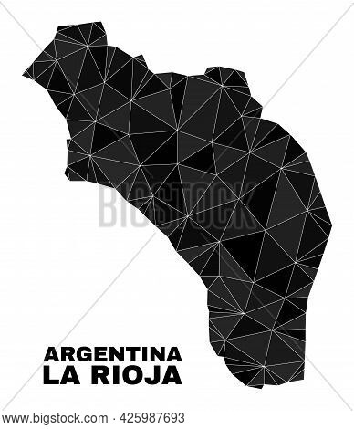 Low-poly La Rioja Of Argentina Map. Polygonal La Rioja Of Argentina Map Vector Is Constructed From R