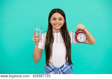 Healthy Childhood Lifestyle. Time To Drink Water. Water Balance In Body. Hydration Vitality.
