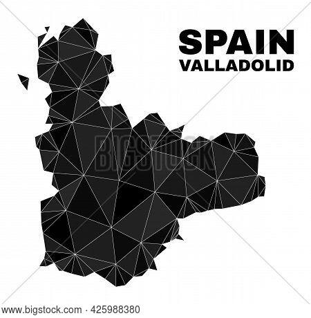 Lowpoly Valladolid Province Map. Polygonal Valladolid Province Map Vector Combined Of Randomized Tri