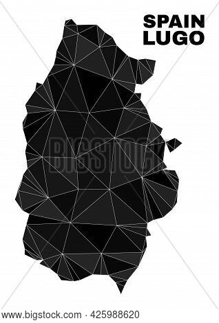 Low-poly Lugo Province Map. Polygonal Lugo Province Map Vector Combined With Chaotic Triangles. Tria