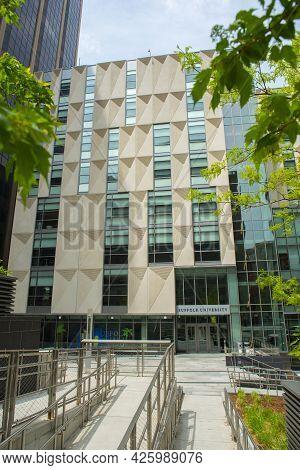 Boston - May 16, 2018: Suffolk University College Of Arts And Sciences At Samia Academic Center At 2