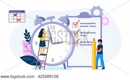 Deadline Time Management On The Road To Success Metaphor Of Time Management In Team Concept Of Multi
