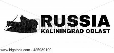Lowpoly Kaliningrad Region Map. Polygonal Kaliningrad Region Map Vector Is Combined Of Scattered Tri