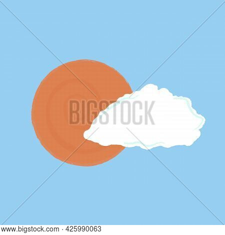 White Cloud With The Sun Behind Icon