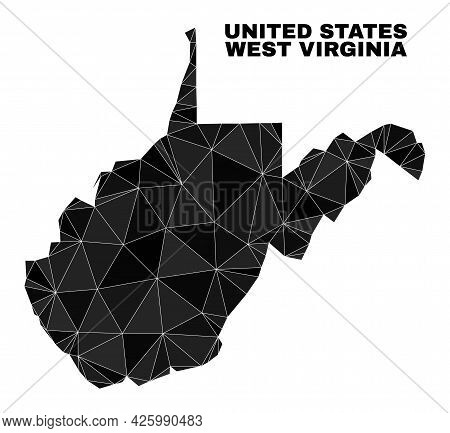 Low-poly West Virginia State Map. Polygonal West Virginia State Map Vector Is Designed From Scattere