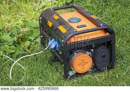 A Gas Generator.portable Power Source.an Uninterrupted Source Of Electricity.