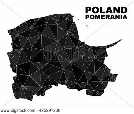 Low-poly Pomeranian Voivodeship Map. Polygonal Pomeranian Voivodeship Map Vector Is Constructed With