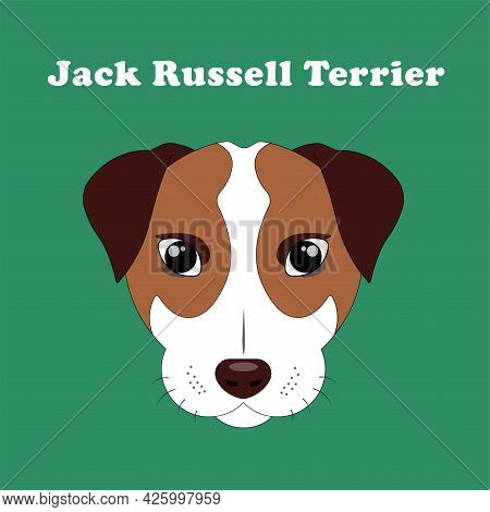 Jack Russell Terrier. Logo With Cute Puppy.