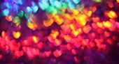 Abstract heart background in rainbow colors for valentines day poster