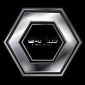 Abstract silver hexagon shape. Vector logo eps 10 poster