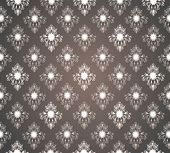 Royal seamless wallpaper, with floral and in brown color. poster