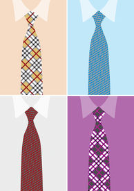 Shirt And Necktie In Four Version