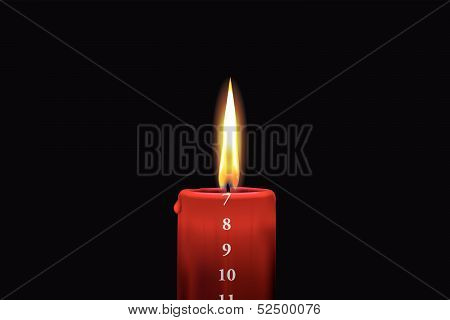 Red Advent Candle - December 7Th