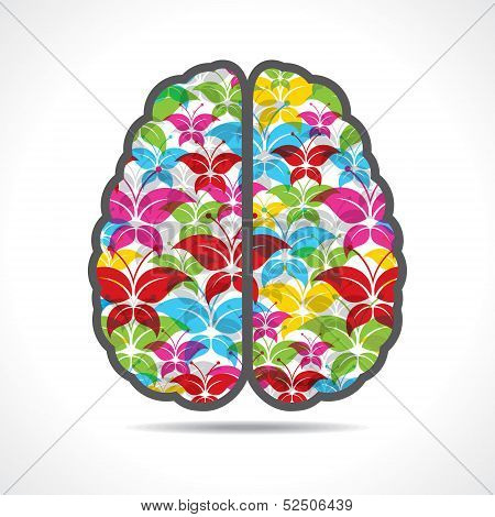Colorful butterfly make a mind or brain stock vector