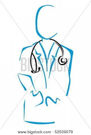 Doctor in uniform with stethoscope