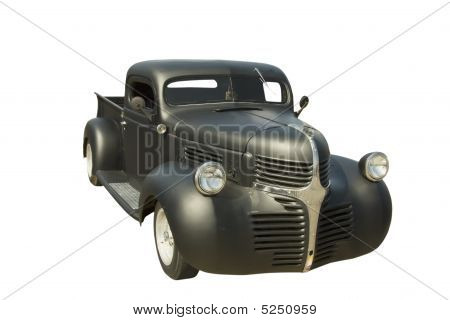 Retro Black Pickup Truck