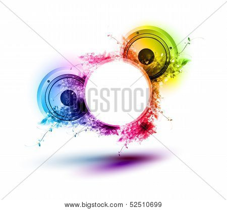 Abstract Musical Speakers Background