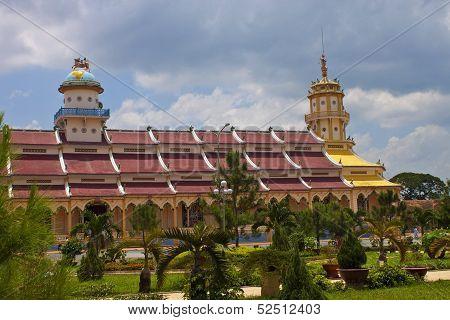 Cao Dai Temple in Tay Ninh near Ho Chi Minh City (Saigon) in Vietnam poster
