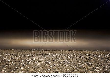 Cornish coastal beach.