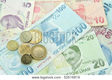Turkish banknotes and coins