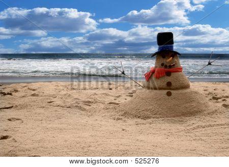 Sandman On The Beach For Family Portraits