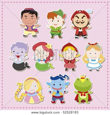 cute cartoon story people icons, vector illustration poster