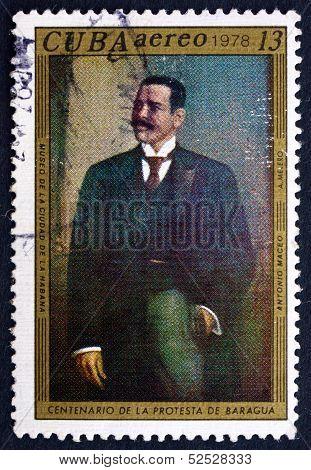Postage Stamp Cuba 1978 Antonio Maceo, By Aurelio Melero