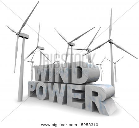Wind Power Words - Alternative Energy