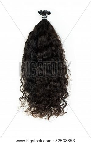 Dark curly hair extensions