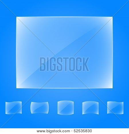 Transparent glass banners