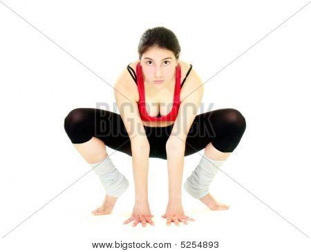 Fitness Girl In Action Ver White