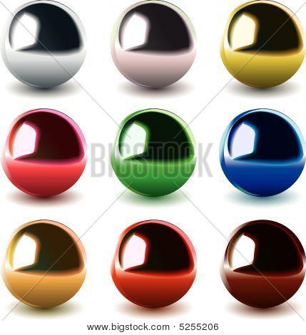 Vector Chrome Balls