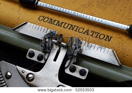 Communication Text On Typewriter