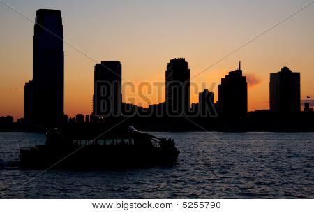 Sunset At Battery Park City
