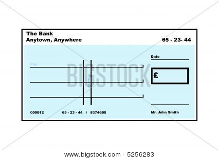 Blank English Cheque