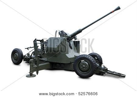 Military Cannon Gun Isolated