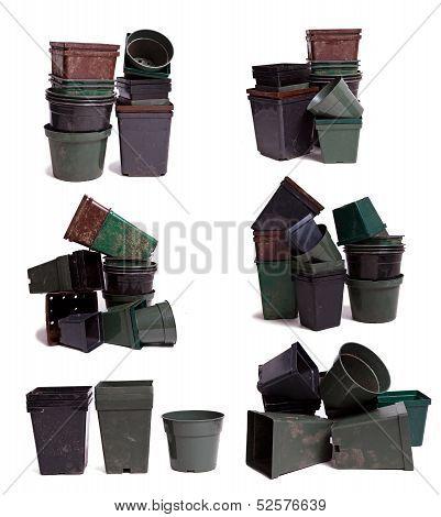 Empty Plastic Garden Pots