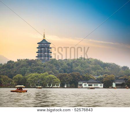 Hangzhou Scenery At Dusk