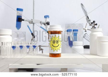 Happy Pill Bottle