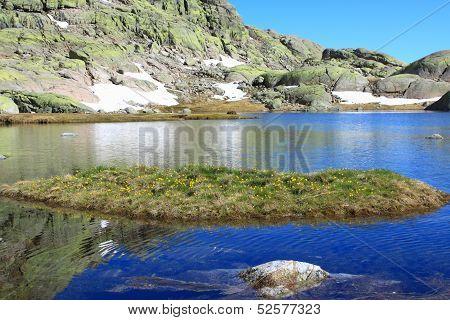 mountain of Gredos at Avila in Castilla Spain