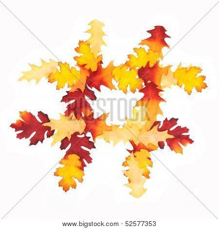 Autumn Leaf Hashtag