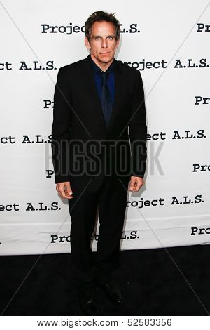 NEW YORK- OCT 17: Actor Ben Stiller attends the Project A.L.S. 15th Anniversary benefit at Roseland Ballroom on October 17, 2013 in New York City.