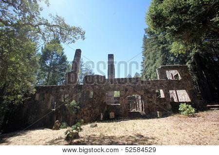 Jack London's burnt Wolf Cabin