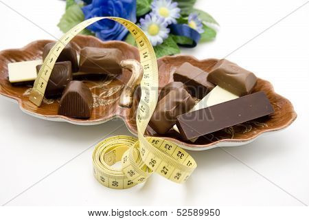 Chocolate with dimension tape