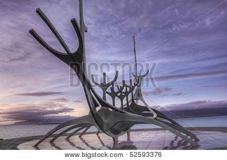 Viking Boat. Solfarid, Reykjavik, Iceland